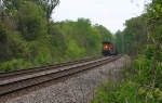 BNSF 5796, at end of loaded coal train,