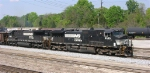 NS 9330 and NS 8680 NB out of yard,