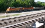 BNSF 5840 and BNSF 5981 SB into yard
