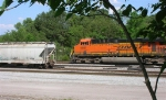 BNSF 5861 leading unit coal train,