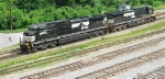 NS 9710 and NS 9880 moving toward the yard,