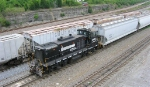 NS 2430 working the yard