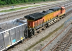 BNSF 5701 as trailing unit in coal train on NS main