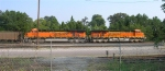 BNSF 6167 and BNSF 6205 waiting on crew,