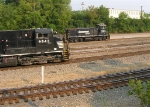 NS 9943 on main and NS 2384 on yard track,