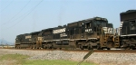 NS 8693 in train headed for yard
