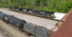 NS 7581 as 3rd unit headed for yard