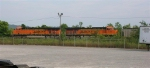 BNSF 6010 and BNSF 6169 waiting on NS Mainline