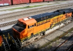 BNSF 5917 as 2nd unit in empty unit coal train