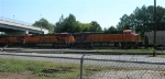 BNSF 5729 as 2nd unit pulling loaded unit coal train into yard