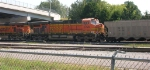 BNSF 5729 and loaded RWSX 23356 headed for the yard