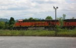 BNSF 5810 lead unit in loaded unit coal train