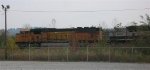 BNSF 9922 leading loaded unit coal train