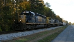 CSX 8118 slowing to a stop, along Wauhatchie Pike,