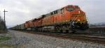 BNSF 6022 leading loaded unit coal train
