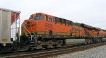 BNSF 5829 as 2nd unit in loaded unit coal train