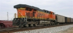 BNSF 5948 at end of loaded unit coal train