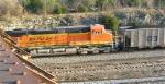 BNSF 6158 as 2nd unit in coal train