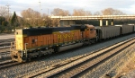 BNSF 9972 at end of loaded unit coal train