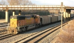 BNSF 9972 pushing at end of loaded unit coal train
