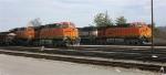 BNSF 5912, BNSF 6119 and BNSF 9580 idling in yard