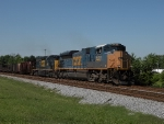 Northbound freight coming out of Rocky Mount with one of only 20 CSX SD70ACe's in the lead