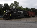 We happened upon this local doing some switching in the small town of Chatham, VA.