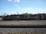 CSX 8848 and 8117 at the Baldwin diamond