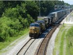 CSX 50 and a southbound intermodal