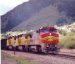 Coal train heads north at Palmer Lake, CO
