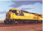Friendly wave from CNW coal train near Bill, Wyoming