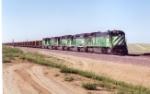 BN coal train near Bill, Wyoming