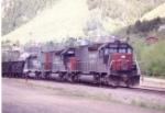 Empty SP coal train at Palmer Lake, CO