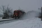 X502 flies through the fresh snow
