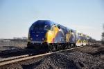Commuter train shoves east