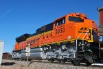 BNSF 9033 is a Rear DPU on a Loaded Coal Train waiting to Enter the BNSF Lincoln Yard.