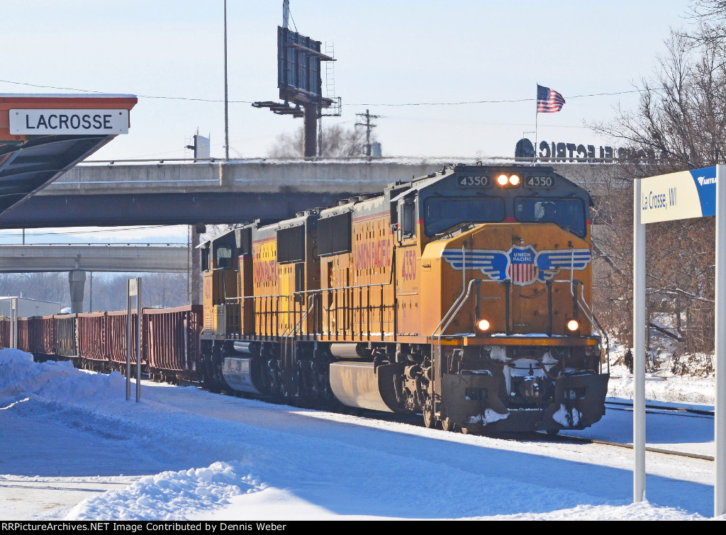 UP 4350,  CP's   Tomah   Sub.