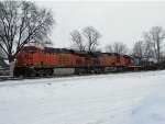 BNSF 6274, BNSF 4855, CN 7201, and CN 201B