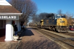 CSX 8755 imitates an old steamer 