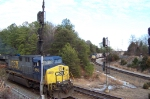 CSX 650 leads K651 but a Dash 8 awaits.