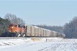 BNSF 9112 On NS 288 Westbound