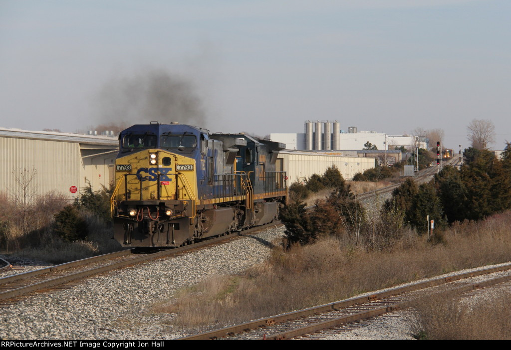 G323 rolls west light power after running around Y106 in the distance at Fox