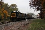 CSX 6930 works hard as it leads D707 east away from Seymour