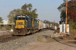CSX 6930 & 2301 lead D707-07 off of Main 2 onto the single main as they head east at Seymour