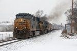 Barely above a walking speed, G880 starts onto the single track at Seymour