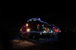 Night time with teh Holiday train