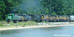 GCFX 3061 leads Q601 along Escambia Bay