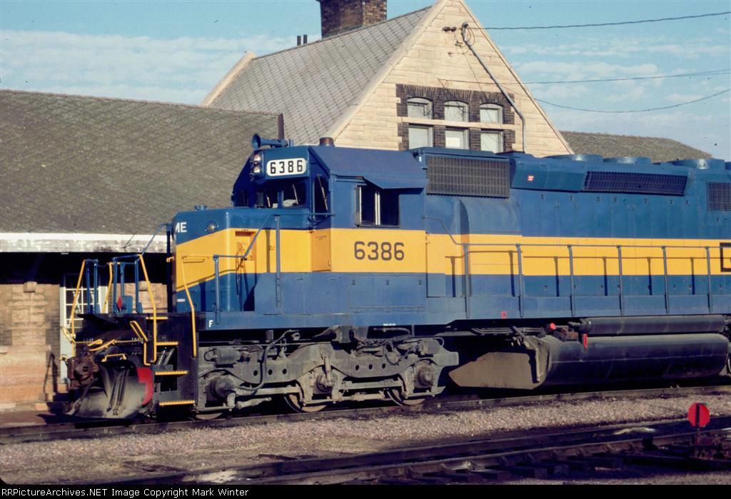 DME 6386 at depot