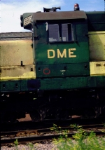 DME 6602 close up of cab