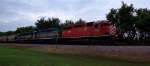 DME 6089 leading EB at cemetery